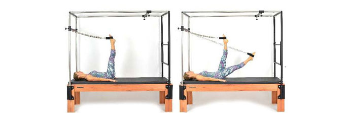 Exercício: Leg Series Supine Scissors