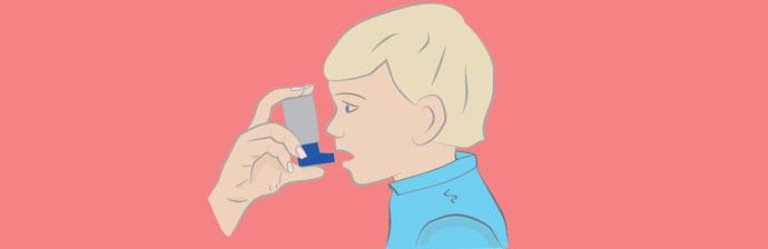 Criança com Asma