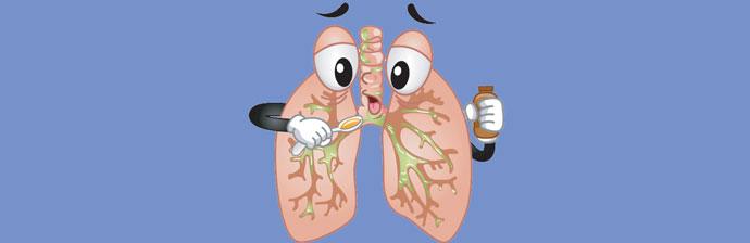 Pulmão com mucosidade