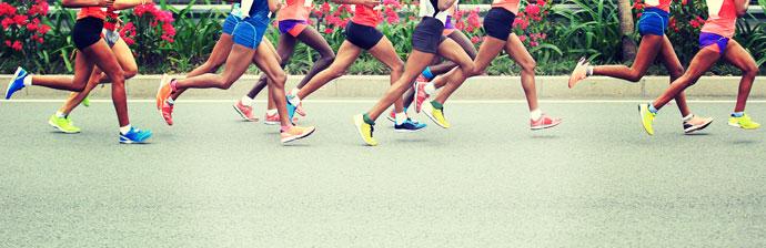 Atletas correndo Maratona