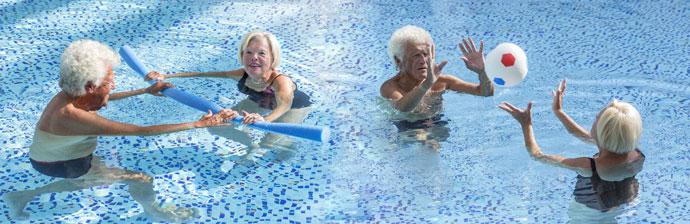 Idosos na Hidroterapia