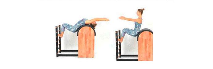 Exercício de Pilates no Barrel